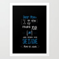 Dear Math (blue)  Art Print