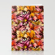 Stationery Cards featuring Daylily Drama - A Floral… by Micklyn
