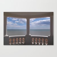 Sea View From A Small Pa… Canvas Print