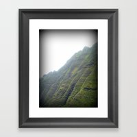 Cliffs Of Na Pali Framed Art Print
