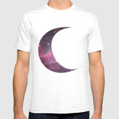 cosmic crescent moon Mens Fitted Tee White SMALL