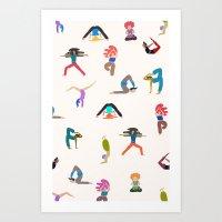 Yoga Lovers Art Print