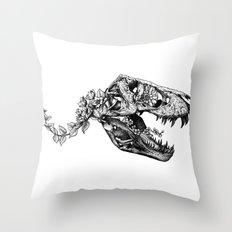 Jurassic Bloom - The Rex.  Throw Pillow