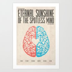 Eternal Sunshine of the Spotless Mind - Alternative Movie Poster Art Print