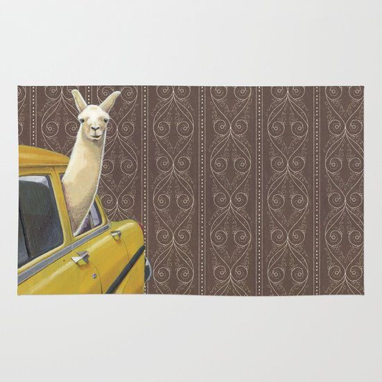 Taxi Llama Area & Throw Rug