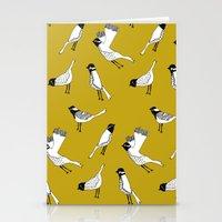 Bird Print - Mustard Yellow Stationery Cards