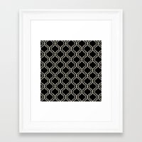 Trellis Patter II Framed Art Print