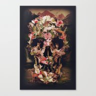 Jungle Skull Canvas Print