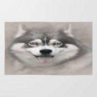 Siberian Husky 2 Rug