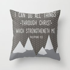 I CAN // Philippians 4:13 Throw Pillow