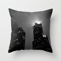 The Torch of Chicago Throw Pillow