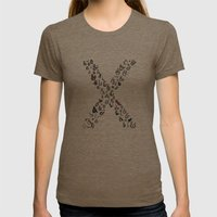 Letter X - Ampersands Womens Fitted Tee Tri-Coffee SMALL