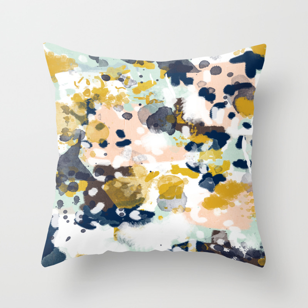 Popular Throw Pillows In Abstract Society6
