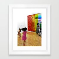 The twirl Framed Art Print
