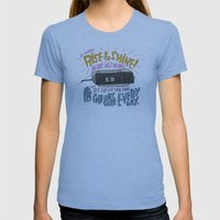 GROUNDHOGGIN' Y'ALL Womens Fitted Tee Athletic Blue SMALL