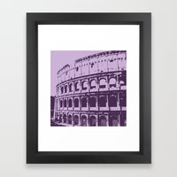 Purpura Coliseum Framed Art Print