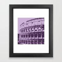 Purpura Coliseum Framed Art Print