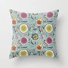 Floral Pattern #45 Throw Pillow