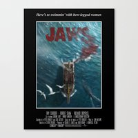 Jaws - 1975 variant Canvas Print