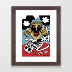 Búho de la Muerte Framed Art Print