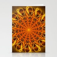 The mandala of energy Stationery Cards