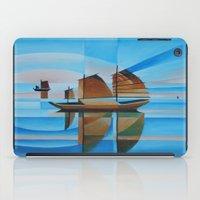 Soft Skies, Cerulean Seas and Cubist Junks iPad Case