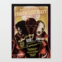 Night Of The 3 Headed Be… Canvas Print
