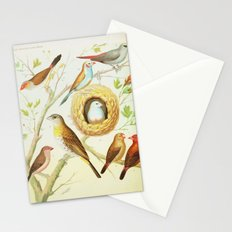 Colorful Vintage Birds  Stationery Cards