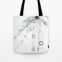 Ice White Drops Tote Bag