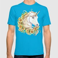 Unicorn Mens Fitted Tee Teal SMALL