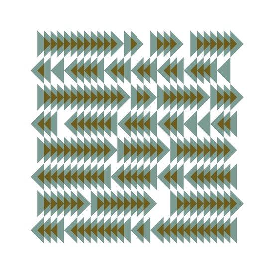 #393 Shoal movements – Geometry Daily Art Print