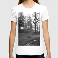 Do Not Enter Womens Fitted Tee White SMALL