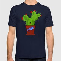 my dear cactus Mens Fitted Tee Navy SMALL