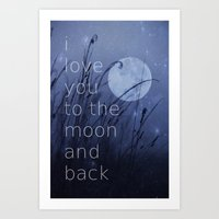 I Love You To The Moon A… Art Print