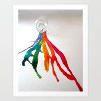 Rainbow Spill Art Print