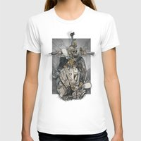 CROSS ENGINE Womens Fitted Tee White SMALL
