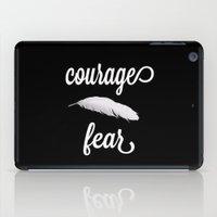 Courage > Fear iPad Case