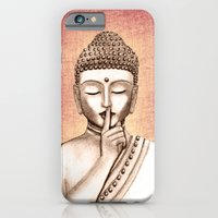 iPhone & iPod Case featuring Buddha Shh.. Do not disturb - Colored version by Vanya