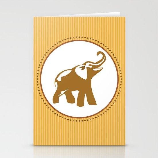 Elephant Print Stationery Card