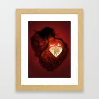 Heartbeat Framed Art Print