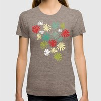 Fan Palm - Kodachrome Womens Fitted Tee Tri-Coffee SMALL