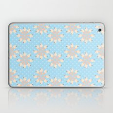 Blue Floral Ice Cream Laptop & iPad Skin