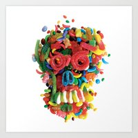 Death And Tooth Decay Art Print
