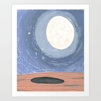 Moon Shadow Art Print