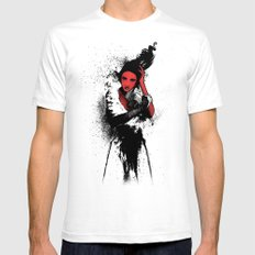 Diva  White SMALL Mens Fitted Tee