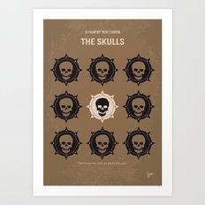 No662 My The Skulls minimal movie poster Art Print