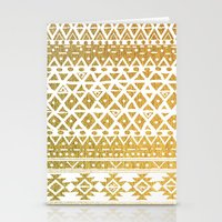 GOLDEN TRIBAL Stationery Cards