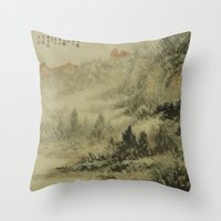 In crossing the river Throw Pillow