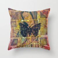 Mother Mary And The Moth Throw Pillow