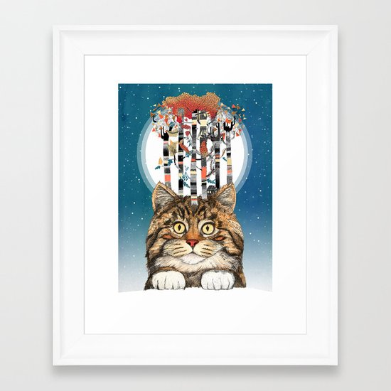 Feline Forest Framed Art Print
